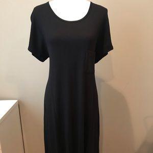 Lularoe Carly Dress XL Dipped black and Grey